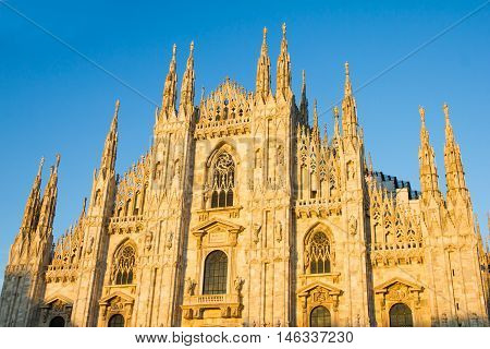 View of the Duomo in Milan, Italy