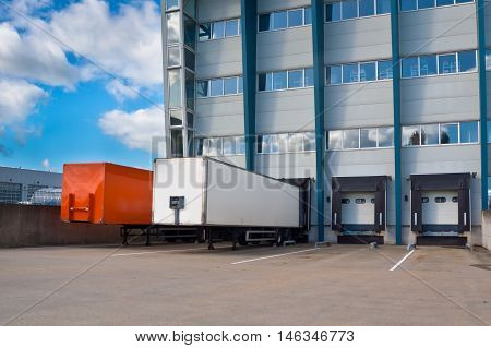 Distribution Center With Trailers