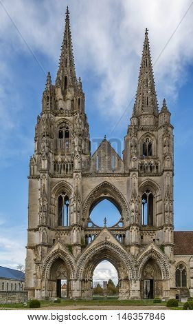 The Abbey of St. Jean des Vignes was a monastery of Augustinian Canons situated in Soissons France. Only ruins remain