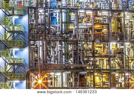 Detail Of Industrial Chemical Factory