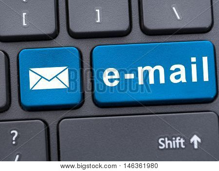 Closeup Picture Of Email Button On Keyboard