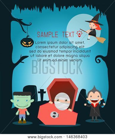 Halloween monster Happy Halloween,Halloween Party, vector illustration