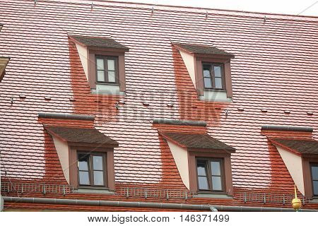 the house with windows on the roof