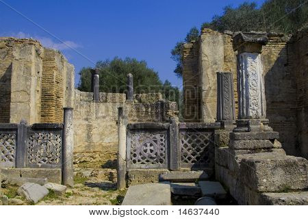 Olympia archeological site Peloponnese Greece