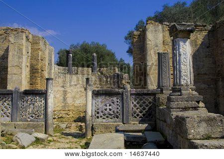 Sitio arqueológico de Olympia Grecia Peloponeso