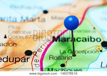Rosario pinned on a map of Venezuela