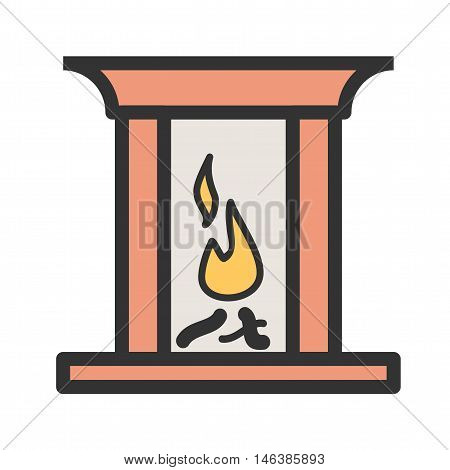 Fire, home, winter icon vector image.Can also be used for home . Suitable for mobile apps, web apps and print media.
