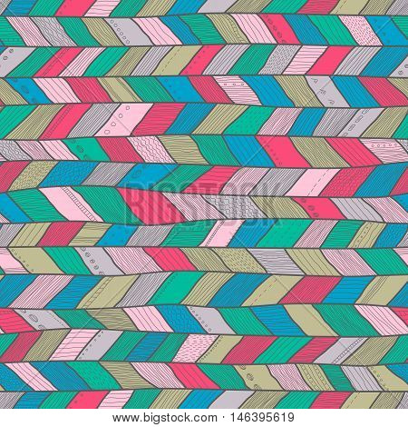Seamless sennit pattern vector multicolored texture for fashion textile wrapping paper. Pastel colors
