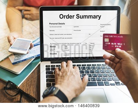 Order Summary Payslip Purchase Order Form Concept poster