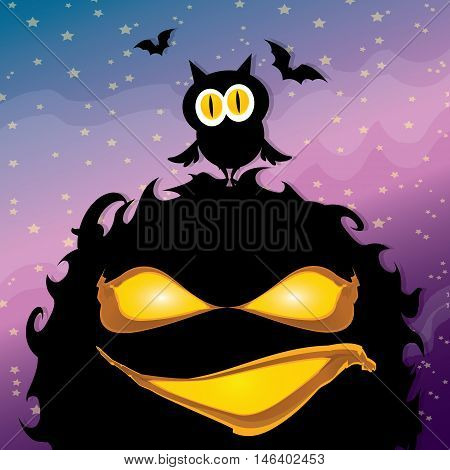 vector frightening monster. nightmares concept illustration template. fear
