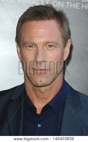 Aaron Eckhart at the Los Angeles screening of 'Sully' held at the DGA Theater in Hollywood, USA on September 8, 2016.