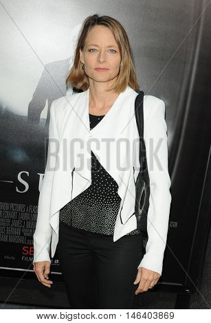 Jodie Foster at the Los Angeles screening of 'Sully' held at the DGA Theater in Hollywood, USA on September 8, 2016.