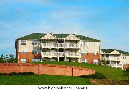 Condo Apartment Buildings On A Hill