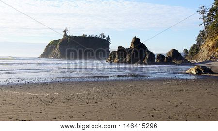 This is Ruby Beach in the Olympic National Park, Washington.