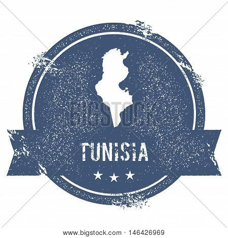Tunisia Mark. Travel Rubber Stamp With The Name And Map Of Tunisia, Vector Illustration. Can Be Used