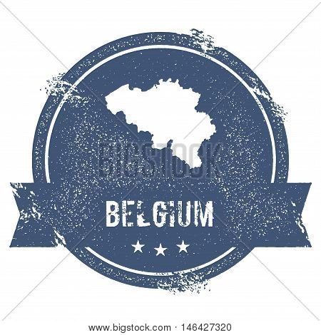 Belgium Mark. Travel Rubber Stamp With The Name And Map Of Belgium, Vector Illustration. Can Be Used