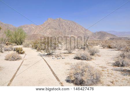 View over Anza Borego Desert National Park, California