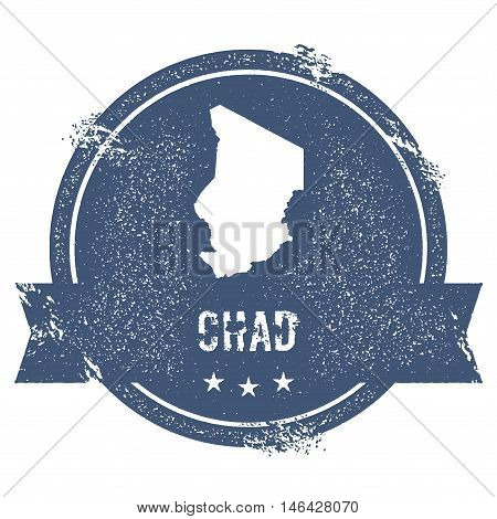 Chad Mark. Travel Rubber Stamp With The Name And Map Of Chad, Vector Illustration. Can Be Used As In