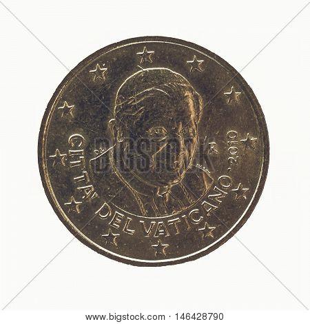 Vintage Twenty Euro Cent Coin