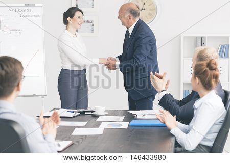 Accepting Congratulations On Her Apt Analysis