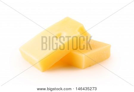 Cheese Emmentaler slaced isolated on white background