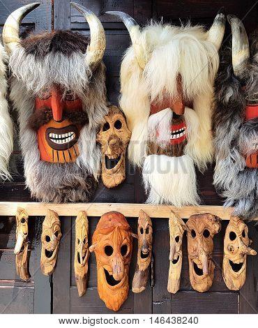 Romanian Traditional Ritual Folk Dance Masks - Old Man