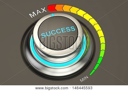 Success controller highest level of success. 3D rendering