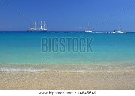 cruiseliner in Parga Epirus Greece