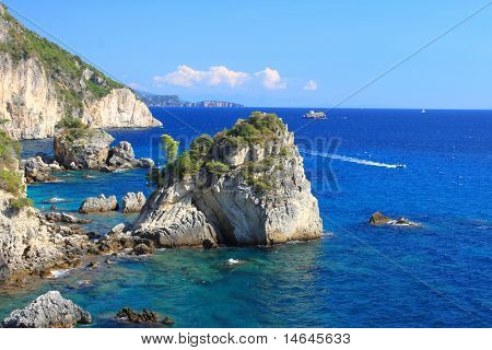 Piso Krioneri beach in Parga Northern Greece
