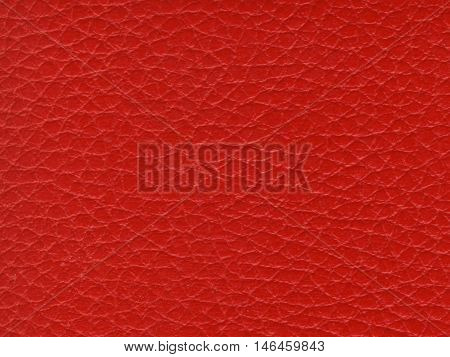 Synthetic Red Leather Texture Background, Close up