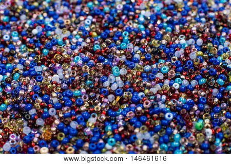 Glass Seed Bead Background brilliance, variegation, glass