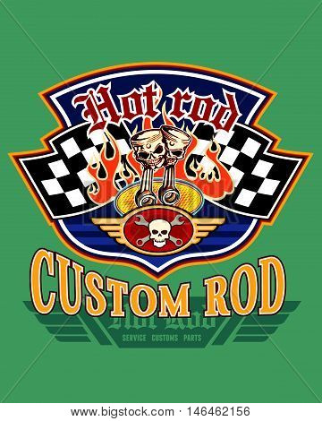 hot rod custom vector for T-shirt printed and poster