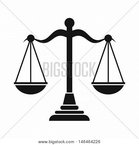 Balance scale icon in simple style on a white background vector illustration
