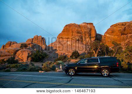 Moab Utah Arches National Camping at Devils camp