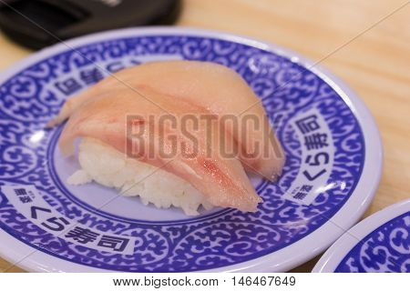 the sushi food is popular japanese food