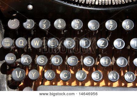 Old dusty Typewriter