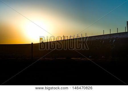 Sunset Near The Itaipu Dam On River Parana