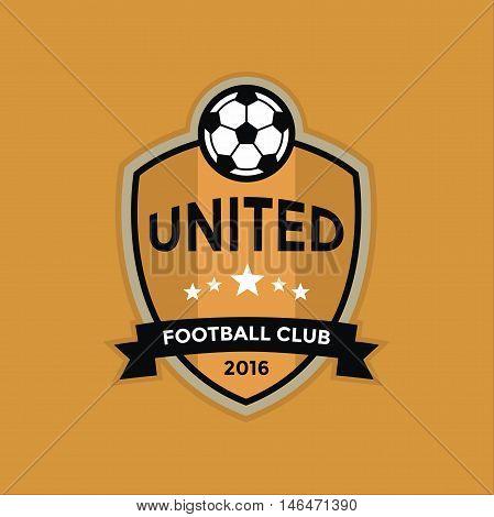 Soccer football club badge logo, vector illustration