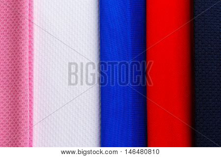 Colorful polyester fabric texture used for background