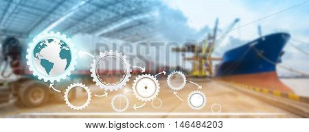 supply chain management logistics with import export background