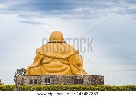 Buddhist Temple With Giant Buddha Statue In Foz Do Iguacu