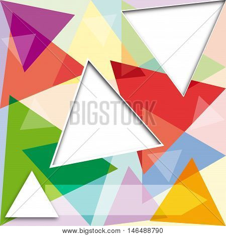 Vector abstract background with colored triangles, illustration