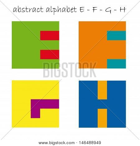 Vector color logo initial letter E F G H