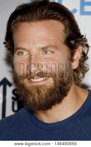 Bradley Cooper at the 5th Biennial Stand Up To Cancer held at the Walt Disney Concert Hall in Los Angeles, USA on September 9, 2016.