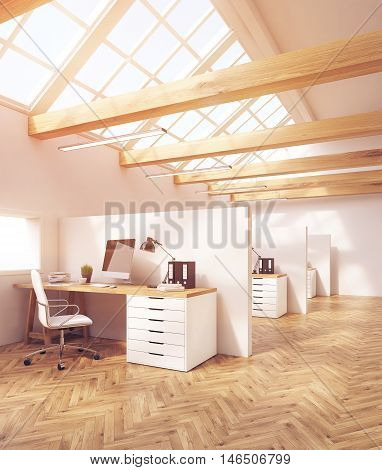 Attic Office Cubicles