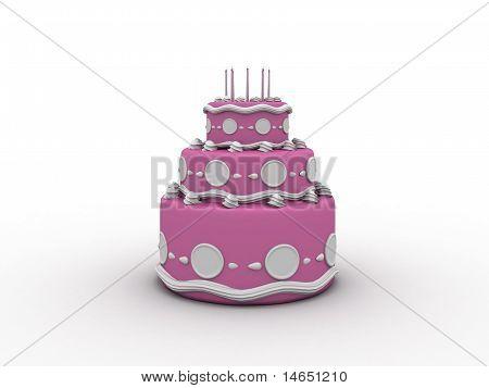 Beautiful Pink Creamy Cake