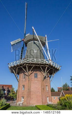 Windmill Meyers Mühle In The Historical Center Of Papenburg