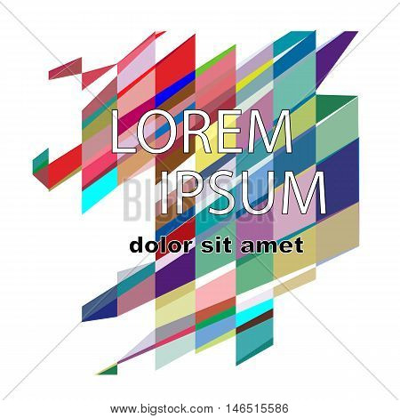Minimalistic design, creative concept, modern diagonal abstract background Geometric element. Blue, yellow and red diagonal lines and triangles. vector-stock illustration