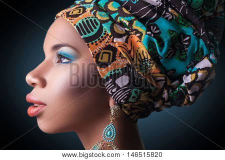 African Beauty, Studio Shot.
