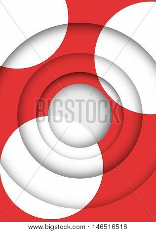 abstract futuristic background in red and white, illustration